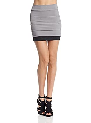 Rare London Rock Skirt Grey