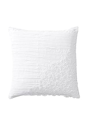 Shades of India Square Daffodil Pillow Cover, White