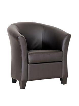 Baxton Studio Anderson Modern Club Chair, Dark Brown