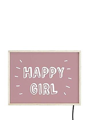 Really Nice Things Leuchtbild Happy Girl