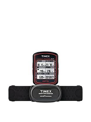 TIMEX Reloj de cuarzo Unisex Unisex Cycle Trainer 2 GPS Bike Computer w/HRM Negro 65 mm