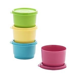 Tupperware Set Of 4 Snack Cups
