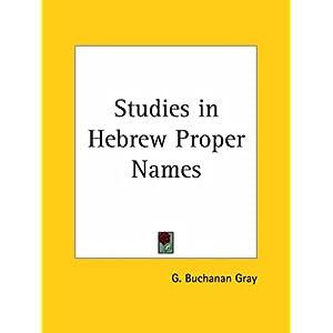 【クリックでお店のこの商品のページへ】Studies in Hebrew Proper Names 1896 [ペーパーバック]