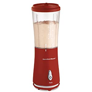 Hamilton Beach 51101R Single-Serve Blender with Travel Lid, Red