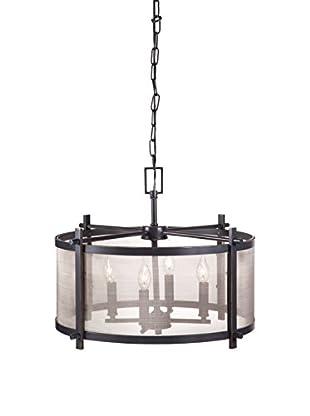 Zuo Gabbro Ceiling Lamp, Antique Black/Gold
