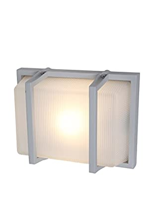 Access Lighting Neptune LED 1-Light Wet Location Wall Fixture, Satin/Ribbed Frosted