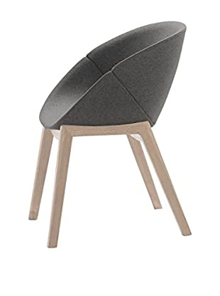 Domitalia Coquille Chair, Dark Grey/Light Wood