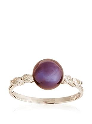 PARIS VENDÔME Ring Diamants Et Perle Noire