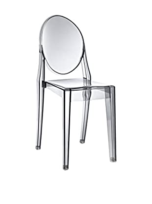 Modway Casper Dining Side Chair, Smoked Clear