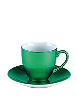 Tognana  Kaffeetasse mit Untertasse 6er Set Bellavis grün
