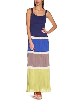 Manoukian Vestido Tirea (Azul / Gris / Verde)