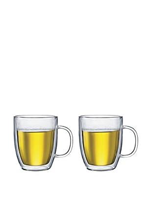 Bodum Bistro Set of 2 Jumbo Double-Walled 15-Oz. Mugs