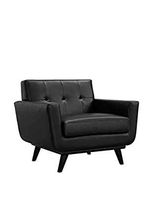Modway Engage Leather Armchair, Black