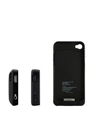 Unotec Hülle mit Ersatzakku für iPhone 4 / 4S schwarz
