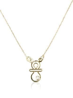 Cordoba Jewels Collar Chupe plata de ley 925 milésimas bañada en oro