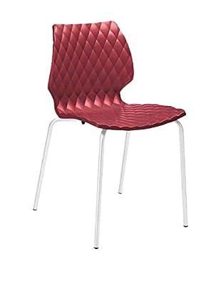 Metalmobil Stuhl 4er Set Uni-550 rot/weiß
