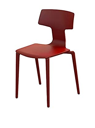 COLOS Set Silla 2 Uds. Split Rojo