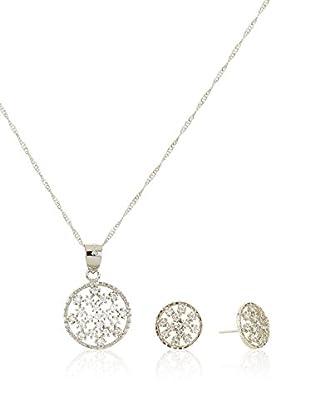 Cordoba Jewels Set Kette, Anhänger und Ohrringe rhodiniertes Silber 925