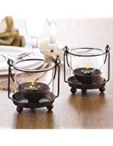 Borosil Hanging Diya - 2-Piece Set Large