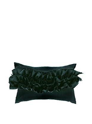 Bandhini Homewear Design Ruffle Lumbar Pillow, Black