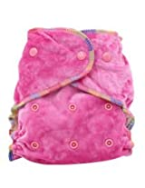 Easy Feel Bamboo Velour Fitted Cloth Diaper - Hot Pink