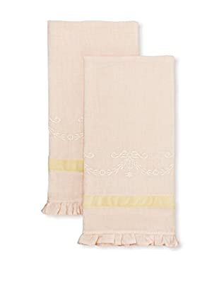 Pom Pom at Home Set of 2 Belle Hand Towels, Pink