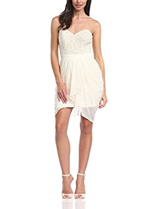 Lipsy Abito Pearl embroidered drape skirt dress