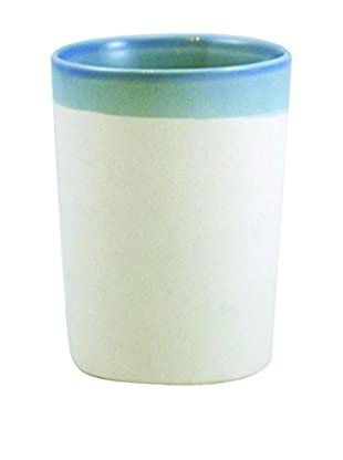 Canvas Home Shell Bisque Tumbler, Light Blue/Beige