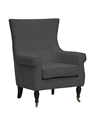 Baxton Studio Osmaston Accent Chair, Grey
