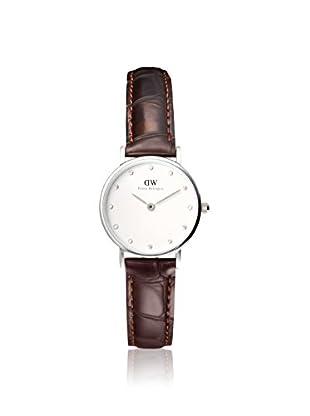 Daniel Wellington Women's 0922DW Classic York Brown/White Leather Watch