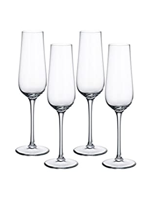 Villeroy & Boch Set of 4 Purismo 9.1-Oz. Champagne Flutes, Clear