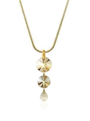 Swarovski Elements by Philippa Gold Halskette 2 Buttons 1 Drop