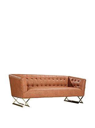 Armen Living Jasper Modern Sofa, Brown