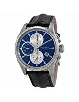 Hamilton Jazzmaster Automatic Chronograph Blue Dial Black Leather Mens Watch H32596741