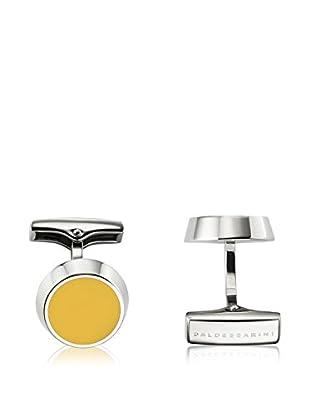 Baldessarini Manschettenknopf  silber/gelb