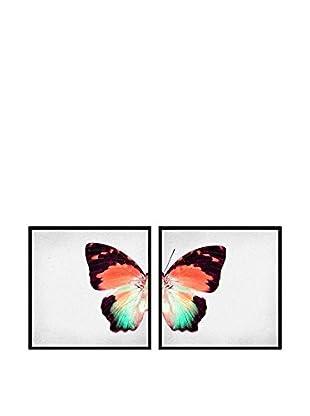 Really Nice Things Bild 2 er Set Butterflies koralle