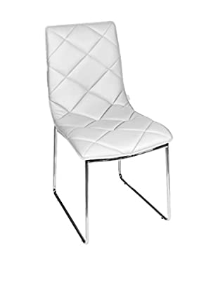 Glam Home Set Silla 2 Uds. Bristol Blanco