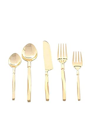 Cunill Beveled Handle Five-Piece Place Setting, Gold