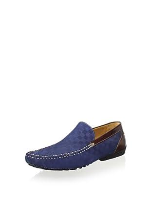Mezlan Men's Slip on Driver Plain Vamp (Blue)