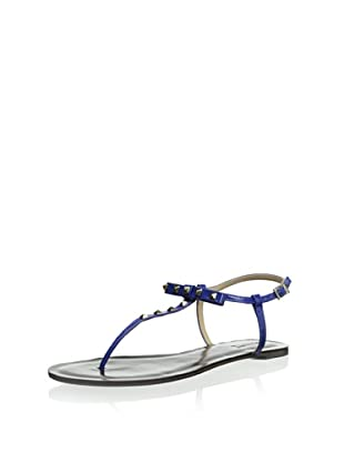 Schutz Women's T-Strap Sandal (Ultramarine)