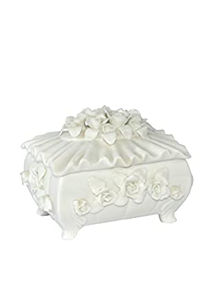 Uptown Down Previously Owned White Porcelain Jewelry Box