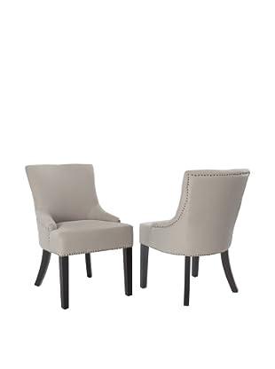 Safavieh Set of 2 Lotus Side Chairs, Taupe