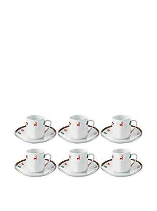 GALILEO Kaffeetasse mit Untertasse 6er Set