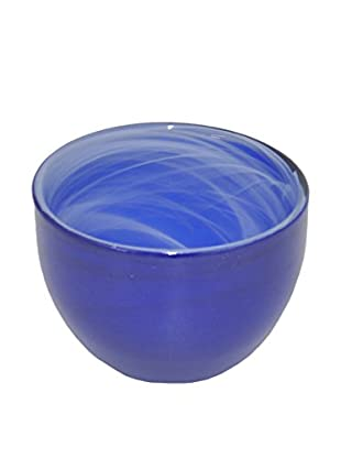 Three Hands Glass Candle Holder, Cobalt Blue