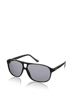 Cole Haan Men's 7041 10 Aviator Sunglasses (Black)