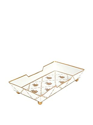 Jayes French Bee Bath Tray, Cream/Gold