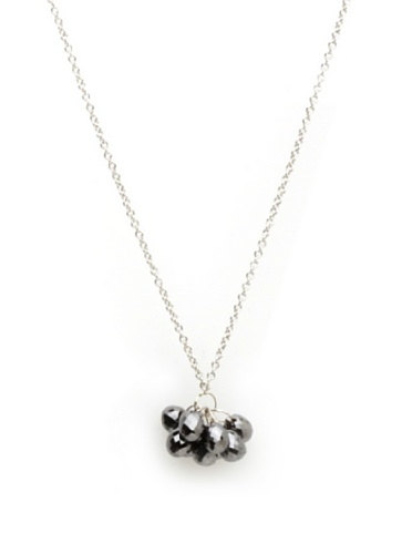 Catherine Angiel White Gold Mini Cluster Necklace