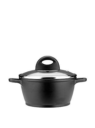 BergHOFF CookNCo 2.2-Qt. Cast Covered Casserole, Silver/Black