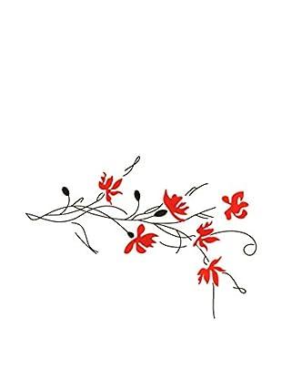 LO+DEMODA Wandtattoo Red Flowers