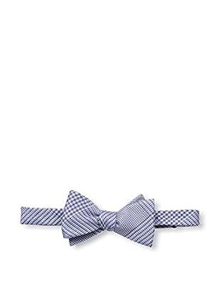 Bruno Piattelli Men's Plaid Bow Tie, Blue